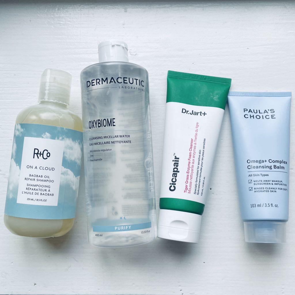 nya favoriter att rengöra hud och hår med
